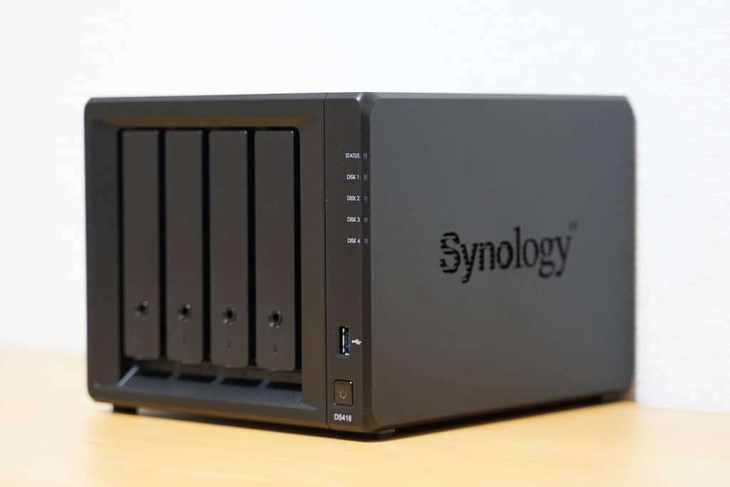 4ベイNASのSynology DS418レビュー