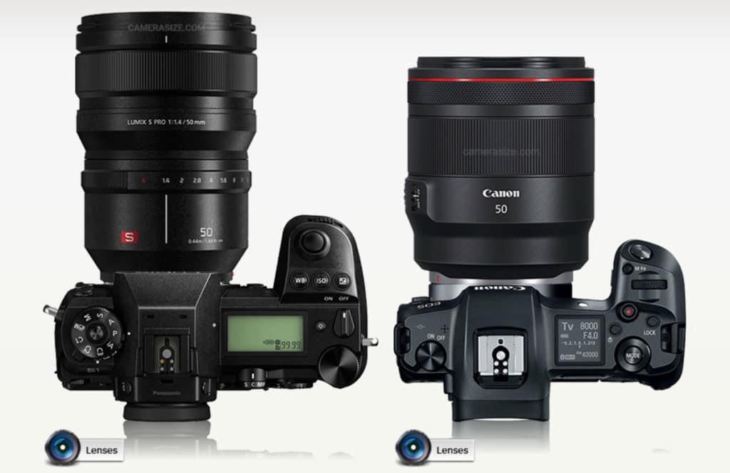 パナソニック 50mm F1.4とキヤノン50mm F1.2の比較