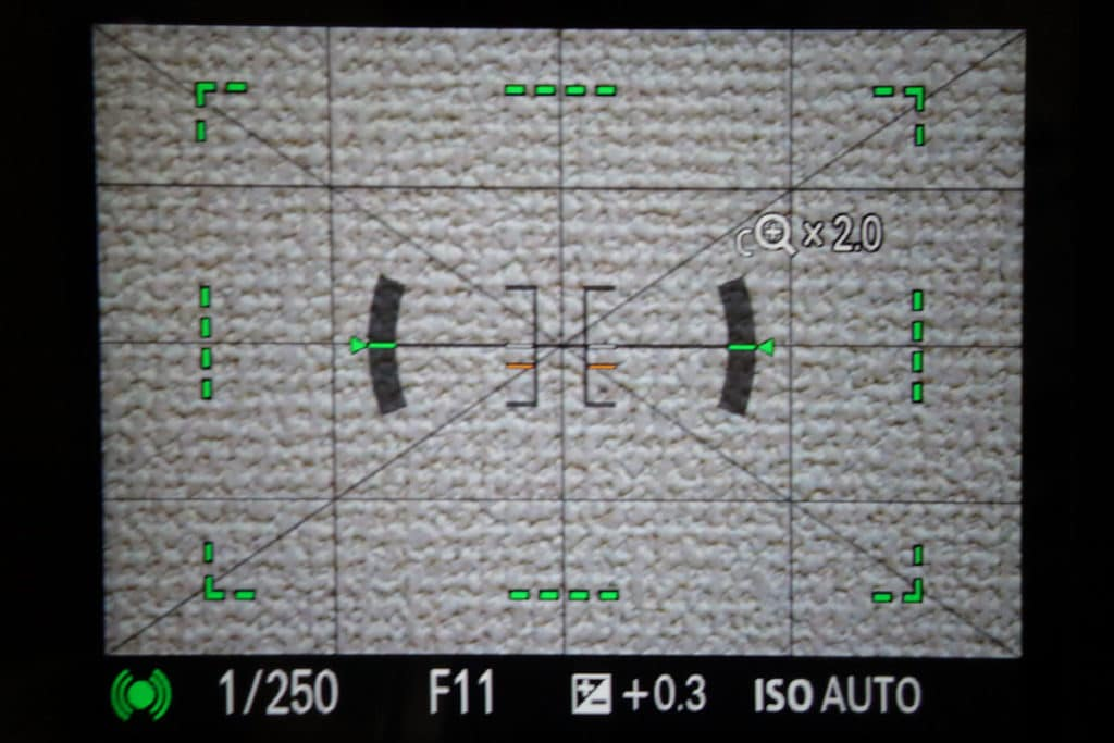 全画素超解像ズームのフォーカスエリア