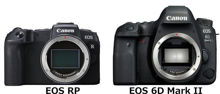 EOS RPとEOS 6D Mark II