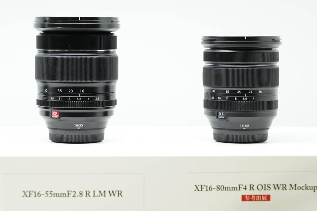 XF16-55mmF2.8 R LM WRとXF16-80mmF4 R OIS WR