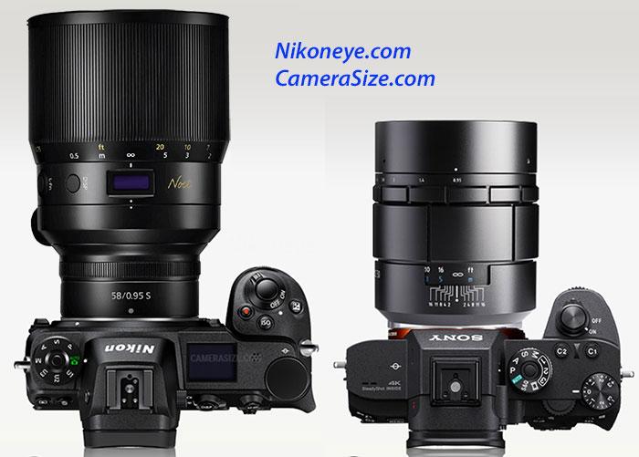 ニコン Z58mm f/0.95 S Noctとの比較