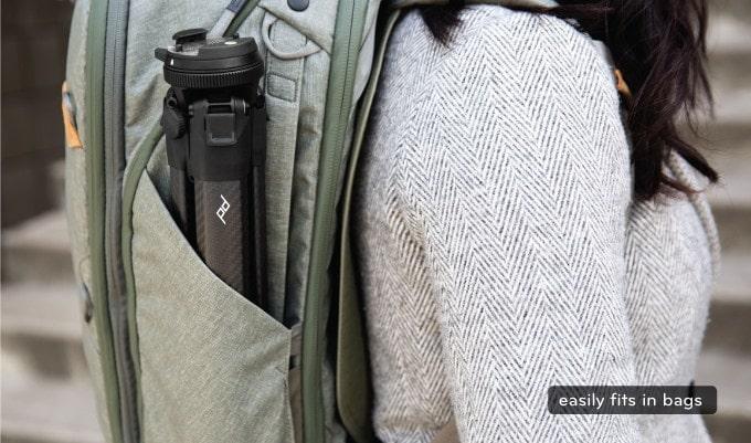 バックパックのサイドポケットにも綺麗に納まる