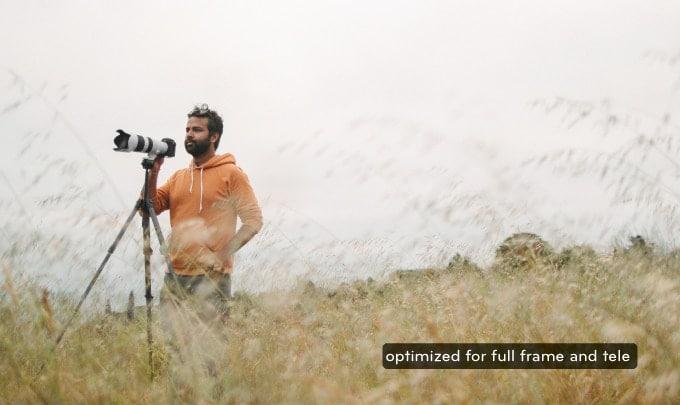 フルサイズカメラと望遠レンズにも対応