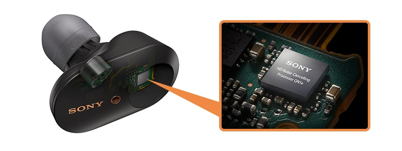 WF-1000XM3の高音質ノイズキャンセリングプロセッサーQN1e